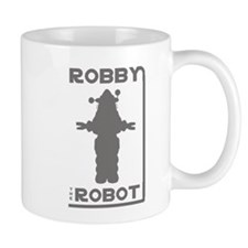 Robby the Robot Outline Small Mug