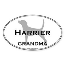 Harrier GRANDMA Oval Decal