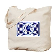Blue Bird of Happiness Tote Bag