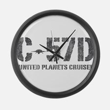 C-57D United Planets Cruiser Large Wall Clock