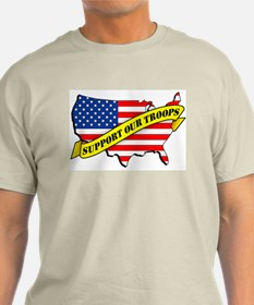 Support Our Troops! Ash Grey T-Shirt