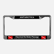 Diving in Antarctica, License Plate Frame