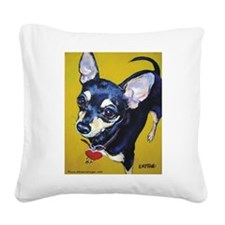 Itty Bitty Chihuahua Square Canvas Pillow