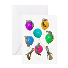 Squirrels Balloons Greeting Card