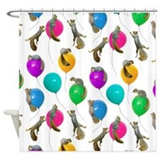 Squirrels Balloons Shower Curtain