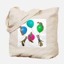 Squirrels Balloons Tote Bag
