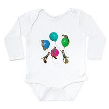 Squirrels Balloons Long Sleeve Infant Bodysuit