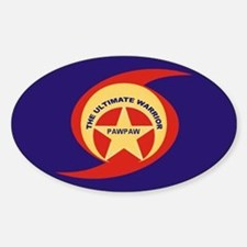 THE ULTIMATE WARRIOR-PAWPAW Oval Decal