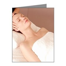 Woman receiving a massage at Note Cards (Pk of 10)
