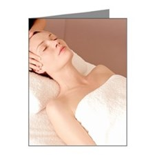 Woman receiving a massage at Note Cards (Pk of 20)