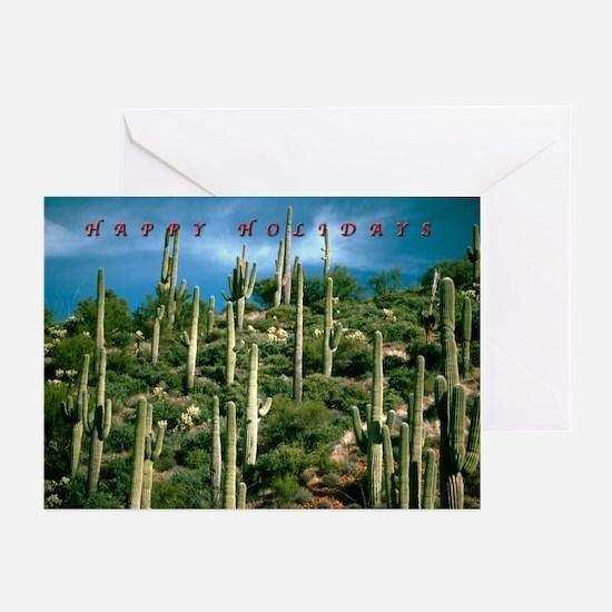 Many Saguaros Holiday Greeting Cards