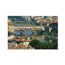 River Arno and Ponte Vecchio Rectangle Magnet