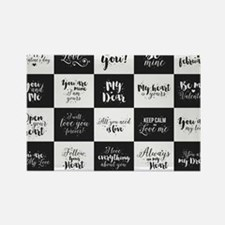 Love Black&White Magnets
