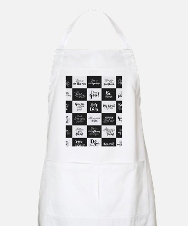 Love Black&White Light Apron