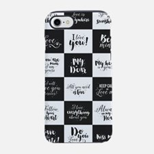 Love Black&White iPhone 7 Tough Case