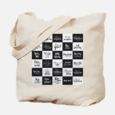 Love Black&White Tote Bag