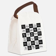 Love Black&White Canvas Lunch Bag