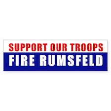 FIRE RUMSFELD Bumper Bumper Sticker