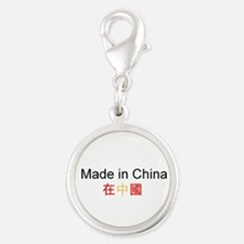Chinese Pride Silver Round Charm