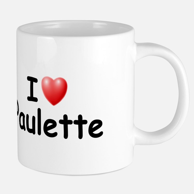 I Love Paulette (Black) Mugs