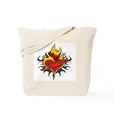 Jesse McCartney Tattoo Flames Tote Bag
