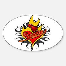 Jesse McCartney Tattoo Flames Oval Decal