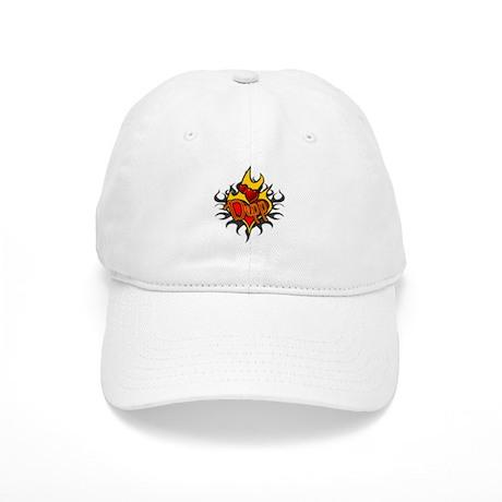 Depp Heart Flame Tattoo Cap