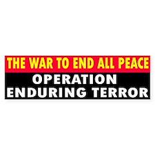 END PEACE ... Bumper Bumper Sticker