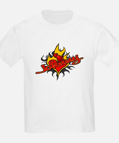 Johnny Heart Flame Tattoo Kids T-Shirt