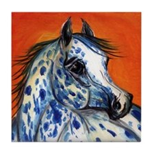 Blue Spotz Appaloosa Horse Tile Coaster