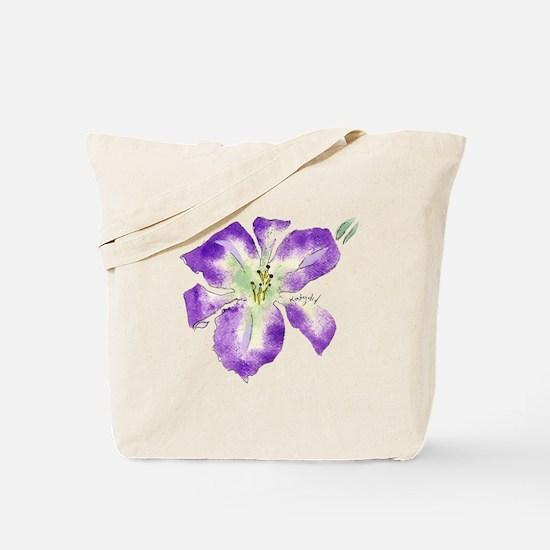'Katydid' Daylily Tote Bag