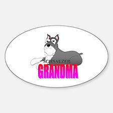 Schnauzer Grandma Oval Decal