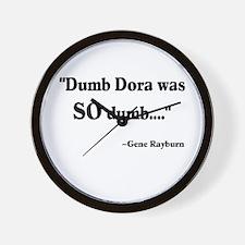 Dumb Dora Match Game Rayburn Wall Clock