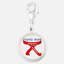 Proud Mom Karate Daughter Charms