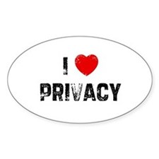 I * Privacy Oval Decal