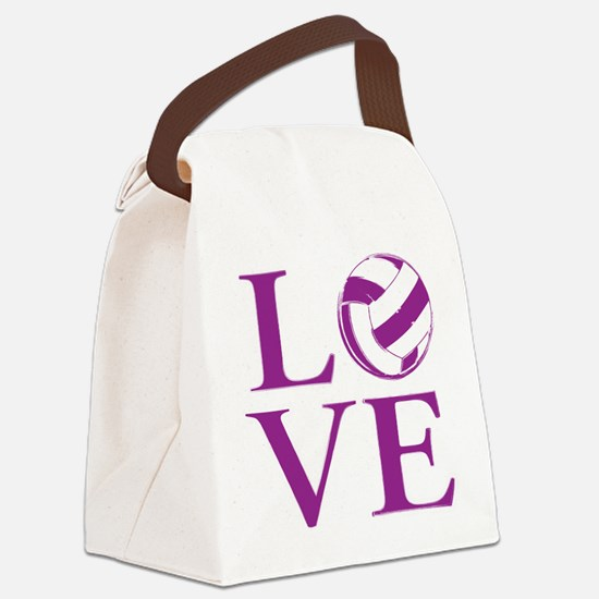 Painted love netball Canvas Lunch Bag