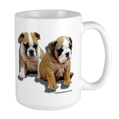 Large Bulldog Puppies Mug