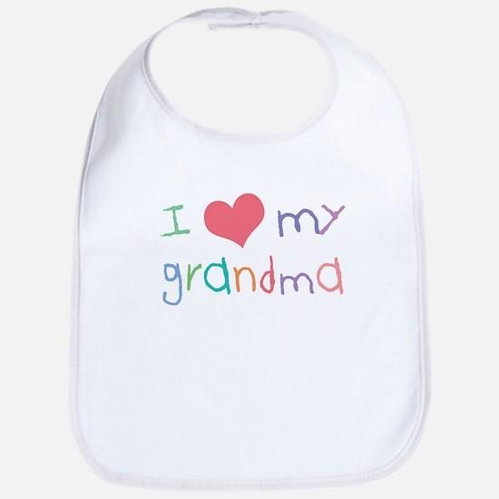 Kids I Love My Grandma Bib