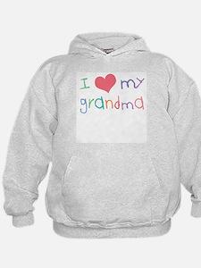 Kids I Love My Grandma Hoodie