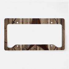 western texas star wood grain License Plate Holder