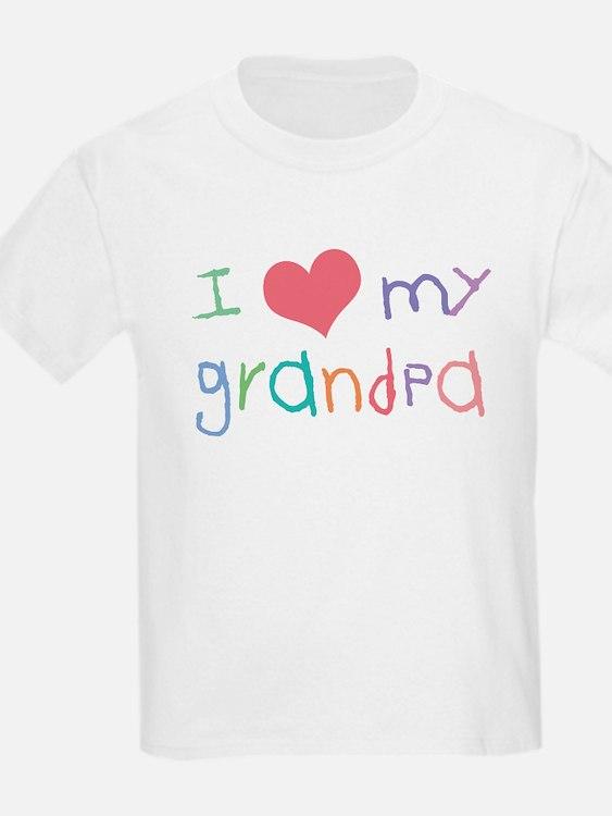 I Love My Grandpa Kids T-Shirt