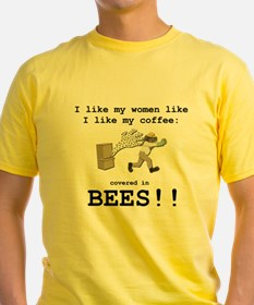 Eddie Izzard Covered in Bees Tee (yellow)