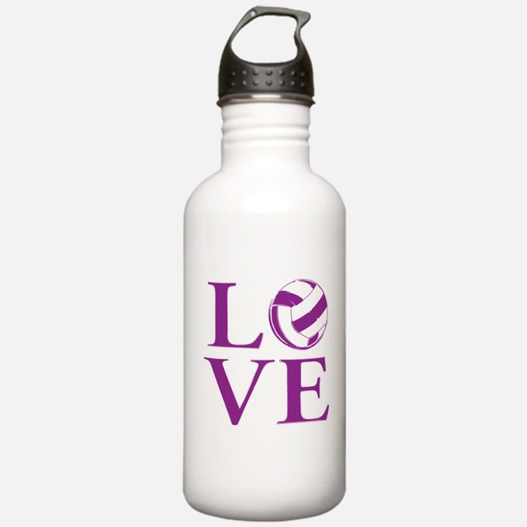 Painted love netball Sports Water Bottle