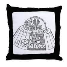 Funny U.f.o Throw Pillow