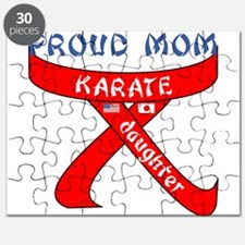 Proud Mom Karate Daughter Puzzle