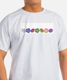 LDS YW Flowers Ash Grey T-Shirt