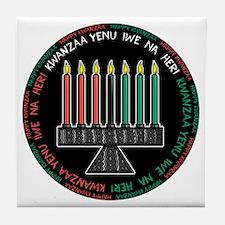 Happy Kwanzaa (Yen Iwe Na Heri) Tile Coaster