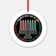 Happy Kwanzaa (Yen Iwe Na Heri) Ornament (Round)