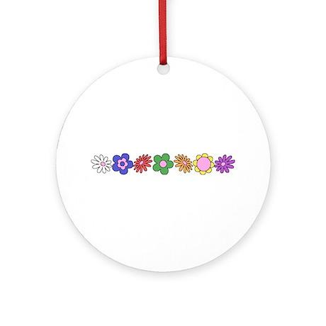 LDS YW Flowers Ornament (Round)