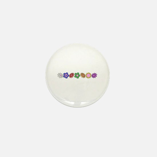 LDS YW Flowers Mini Button